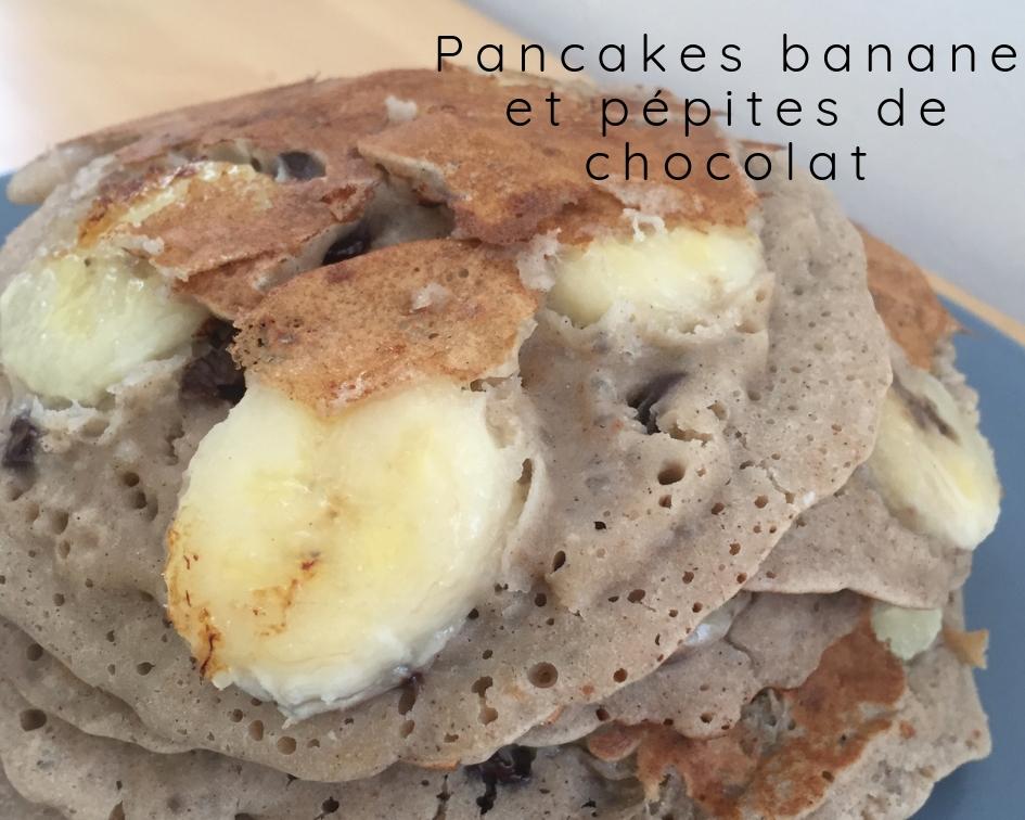 Pancakes banane et pépites de chocolat