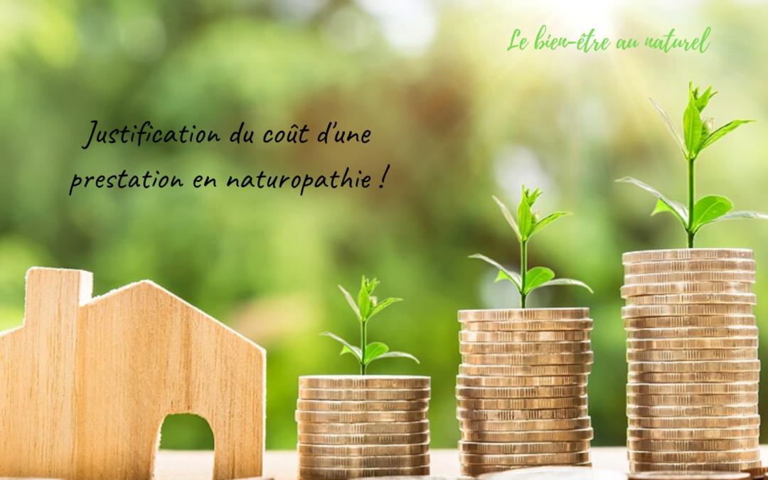Justification du coût d'une prestation en naturopathie !