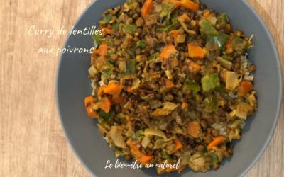 Curry de lentilles aux poivrons