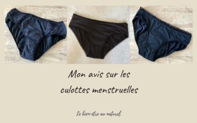 Mon avis sur les culottes menstruelles